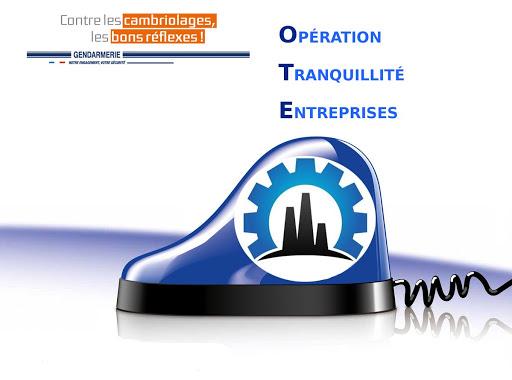 Gendarmerie : Opération Tranquillité Entreprise (OTE)