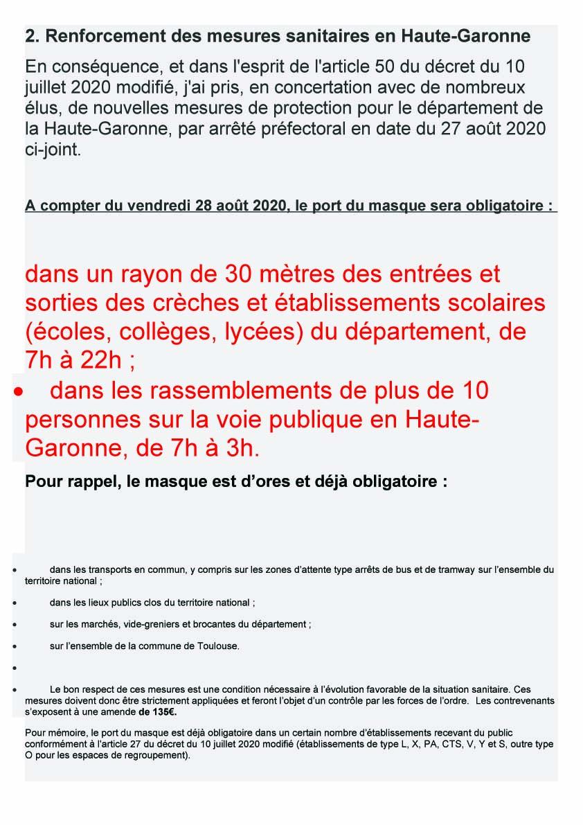 Protocole Masques 28 08 20201
